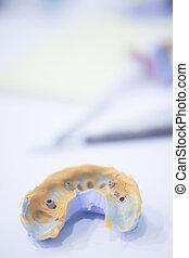 Dental mold dental impression plate