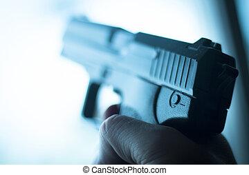 automático, 9 Mm, pistola, pistola, Arma,