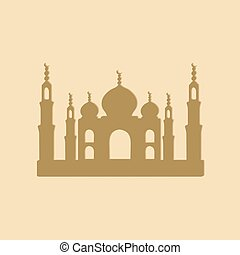 Taj Mahal temple icons - Temple of Taj Mahal...