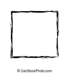 Frame square ink grunge background. Vector frame. Ink frame....