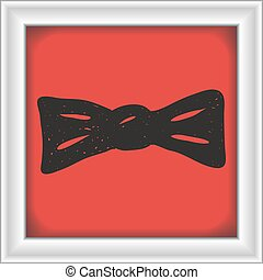 Simple doodle of a bowtie - Simple hand drawn illustration...