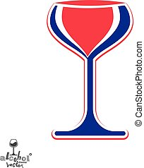 Bright classic vector goblet, stylish alcohol theme...