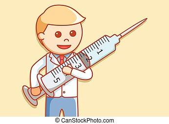 Doctor syringe