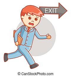 Business man exit way