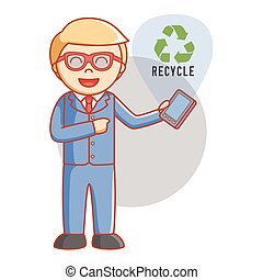 Business man recycle