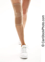 injury, tourniquet bandage stabiliz - Knee injury,...