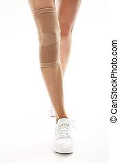 injury, tourniquet bandage stabiliz - Knee injury,...