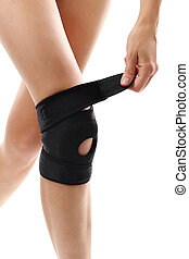Knee brace - Knee injury, tourniquet bandage stabilizing