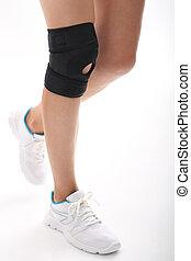 Elastic, dressing knee - Knee injury, tourniquet bandage...