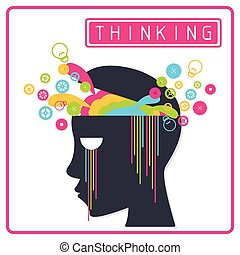 Colorful Creative Thinking Brain