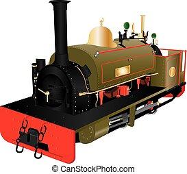 Vintage Narrow Gauge Loco - A Vintage Narrow Gauge Steam...