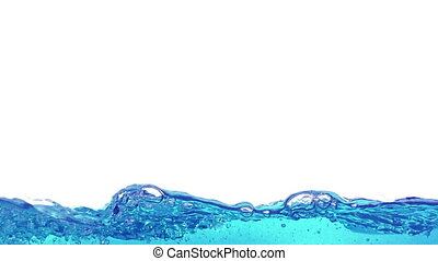 Water splashing, slow motion