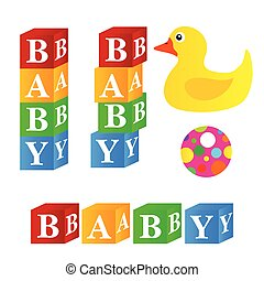baby cubes toys illustration