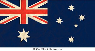 Australia paper flag - Vector image of the Australia paper...