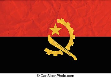 Angola paper flag - Vector image of the Angola paper flag...