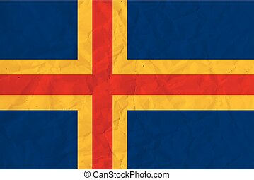 Aland paper flag - Vector image of the Flag of Aland
