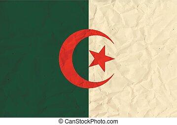 Algeria paper flag - original and simple Algeria flag...