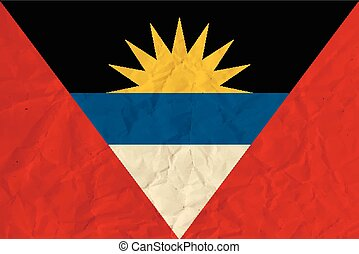 Antigua and Barbuda paper flag - Vector image of Antigua and...