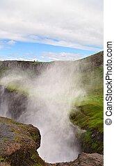 Gulfoss Waterfall - Gulfoss waterfall, iceland