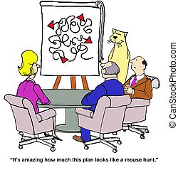 Annual Plan - Business cartoon about annual plan