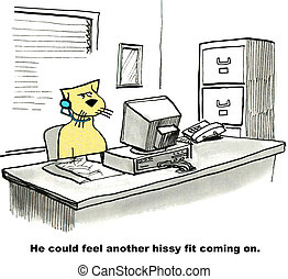 Hissy Fit - Business cartoon about a hissy fit.