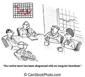 Irregular Sales - Business cartoon about irregular sales.