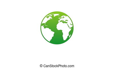 Ecology icon design, Video Animation HD1080