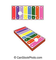 xylophone baby toy illustration