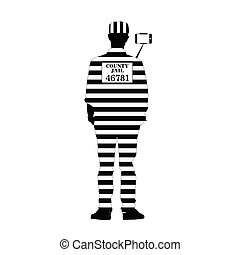 prisoner with selfie illustration silhouette