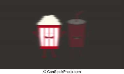 Animated cinema food design, Video Animation HD1080