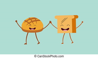 Animated bread icon design, Video Animation HD1080