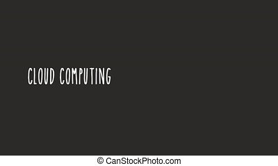 Animated cloud computing design, Video Animation HD1080