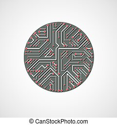 Technology communication cybernetic element Vector abstract...