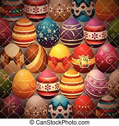 Background Composed of Easter Eggs