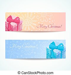 Christmas banners set