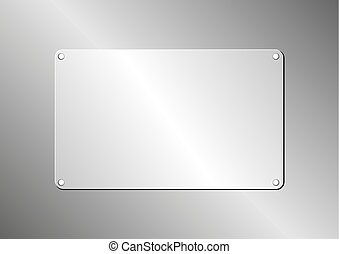 plaque - metallic background with plaque