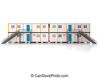 Double story elevation Portable house and office cabins