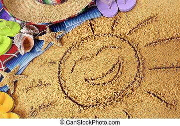 Mexico smiling beach sun