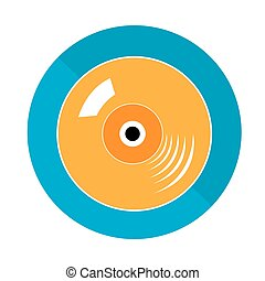 Musical instrument - Isolated vinil on a blue button on a...