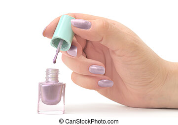 nail polish isolated on a white...