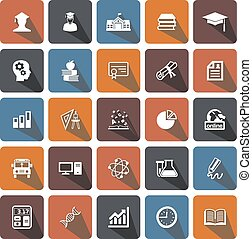 icons set college - icons for Web and Mobile