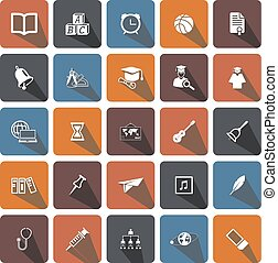 icons set school - icons for Web and Mobile
