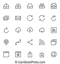 web icon flat - icons for Web and Mobile