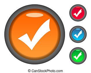 Check mark button icons