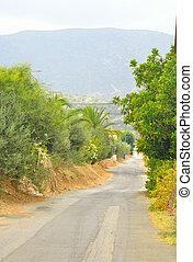 Summer landscape in Crete.