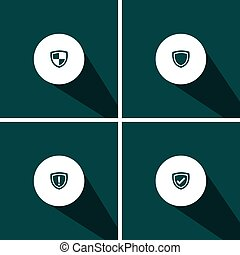 security - icons for Web and Mobile