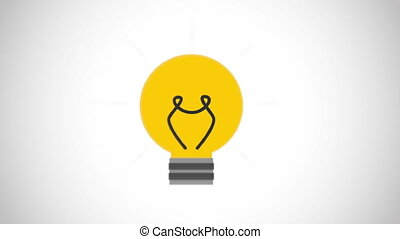 Idea icon design, Video Animation HD1080
