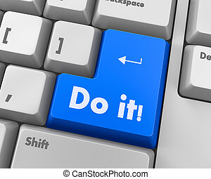 do it - Text do it button 3d render