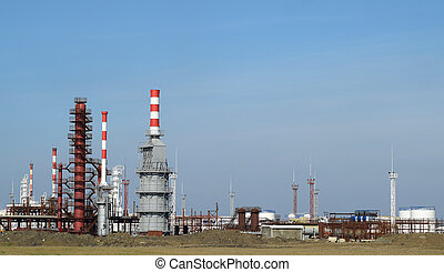 Distillation columns, pipes and other equipment furnaces...