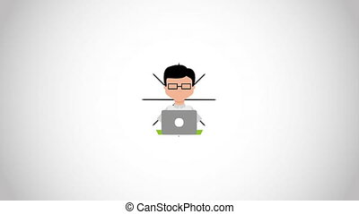 People with computer design, Video Animation HD1080